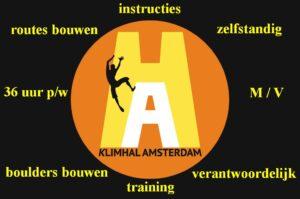 vacature klimhal Amsterdam